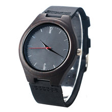Fashion Simple Bamboo Nature Wood Wristwatch Bangle Modern Men Genuine Leather Bnad Creative Watches Sport relogio Xmas Gift