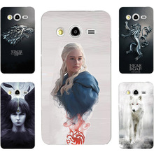 GOT Game Of Throne House Stark Targaryen Hard PC Painting Case For Samsung Galaxy Grand 2 G7102 G7105 Cell Phone Printed Case