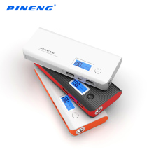 Pineng Mobile Power Bank 10000mAh 2 USB LCD Display External Battery Pack Portable Charger Powerbank for Smart Phone(China)