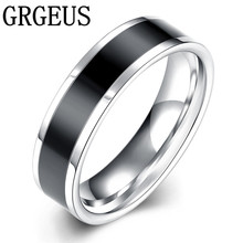 New Arrival Stainless Steel Couple Ring Fashion Design Ring for Men and Women lord Wedding Band male for lovers(China)