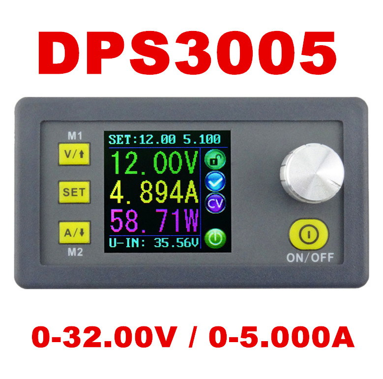 DP30V5A Upgraded version DPS3005 Constant Voltage current Step-down Programmable converter Power Supply Ammeter voltmeter Module<br><br>Aliexpress