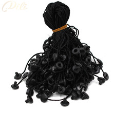 100pcs black garment hang tag string 7'' quanlity hang tag string cord for garment price tag seal tag