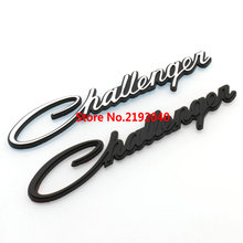 10pcs Car 3D Emblem Rear Letter Badge Logo Sticker Silver Black ABS For DODGE Challenger Plastic Auto Styling Nameplates