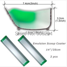 "2 pcs 14"" 35cm Emulsion Scoop Coater Silk Screen Printing Sizing Scrape Coating including shipping cost"