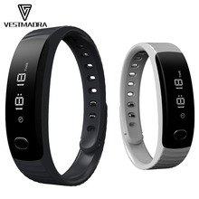 VESTMADRA H8 Smart Band OLED Display Bracelet Sleep Monitor Sports Fitness Tracker Call Message Reminder Remote Camera Music