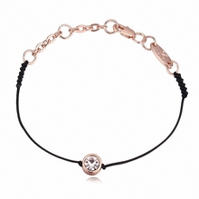 2 Colors Real Austrian Crystals jewelry thin Black thread string rope Charm Bracelets & bangles for women Fashion  New style
