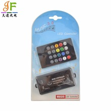DC12V-24V 20 Keys Black Wireless IR Remote Control LED Music Sound Control RGB led Controller Dimmer for 5050 RGB LED Strip(China)