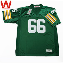 WENWUBIN Mens #66 Ray Nitschke Embroidered Throwback Football Jersey