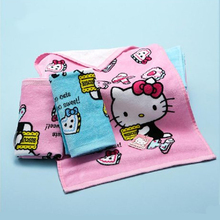 1pcs Home Textile Hello kitty Hand Towels Soft Face Towel Cleaning Towel Dry Hair Towel for Kitchen Bathroom 2C(China)