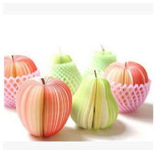 Fruit Note Memo Pads Portable Scratch Paper Notepads Post Sticky Apple/pear Shape  Novelty 10 Different style