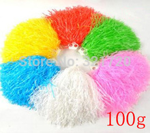 100g plastic PE cheerleader pompoms (10pcs/lot) Cheerleading Lalla Ball Pom Poms Cheerleaders Props Pompom Drop Shipping