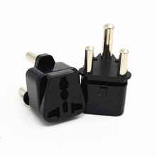 10pcs/lot White/Black WD-10L Portable Universal Plug to (Large) South Africa Plug Adapter Power Socket Travel Converter-(China)