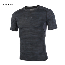 2017 New Running t Shirt Men Quick Dry Breathable Short Sleeve Camping Climbing Fishing Outdoor Sports Hiking t-shirt Male(China)