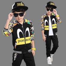 new spring/autumn baby Boy clothing set boy sports suit set children  outfits girls tracksuit clothes T shirt+pant