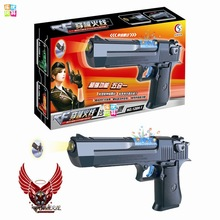 Luminescence toy Most country Guns With Flashing Night Light Collimator Toy Guns Classic Toys For Boys Children Role Play Games(China)