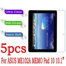 "Ultra Clear Soft Nano Explosion proof Screen Protector For Asus MeMO Pad 10 ME102 ME102A K00F 10.1"" Tablet (Not Tempered Glass)(China)"