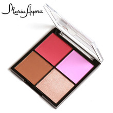 Face Makeup Natural Sweet 4 Colors Baked Blusher Powder Cheek Color Beauty Contour Blush Cosmetic