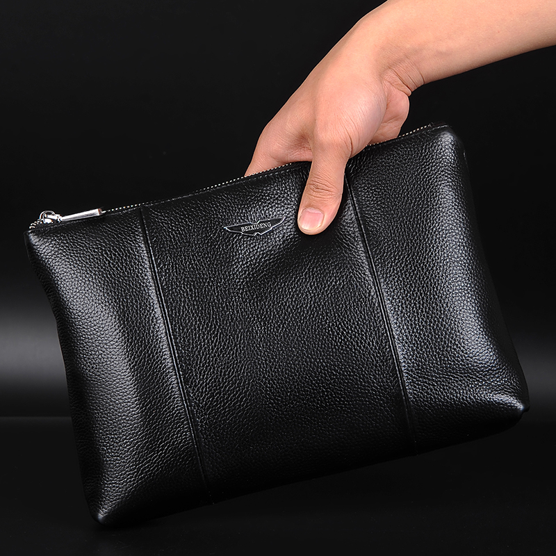 New Arrival 3 Sizes Real Cowskin Mens Day Clutch Bag Large capacity Genuine Leather Wallet Male Phone Bags Fashion Business Bag<br><br>Aliexpress