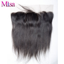 Mi Lisa Lace Frontal Closure Pre Plucked With Baby Hair 13''x4'' Swiss Lace Hand Tied 100% Human Hair Remy Straight Hair