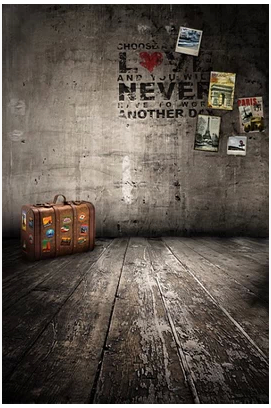 Graffiti Poster Suitcase Backgrounds High-grade Vinyl cloth Computer printed Wooden backdrops<br><br>Aliexpress