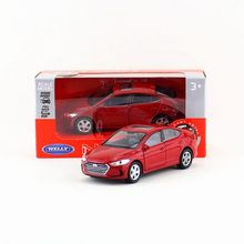 Welly Diecast Model/1:36 Scale/Hyundai Elantra toy/Pull Back Educational Collection/for children's gift
