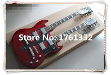 2016 popular high quality double neck electric guitar  with 12 strings and 6 strings and can be changed as your request
