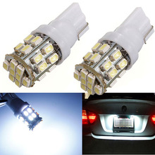 1Pcs Best Price T10 W5W 194 168 Car Auto Pure White 24 SMD 1206 3020 LED Signal Reverse Side Lights Bulb Lamp DC12V