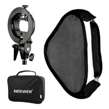 "Neewer Photo Studio 32x32""/80x80cm Softbox with S-type Speedlite Flash Bracket Mount and Carrying Case for Product Photography(China)"