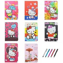 "AIBOULLY Hello Kitty PU Leather Universal Case for 10.1"" Toshiba Encore 2 10 WT10-A32 Windows 8.1 Tablet Stands(China)"