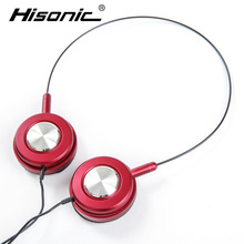 Hisonic 3.5mm Wired Headphones Earphone Earbuds Stereo Headset For iPhone Samsung HTC Xiaomi ecouteur casque audio headset(China)