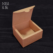 Kraft Paper Gift Box Handmade Soap Jewel Cookies Tea Wedding Candy Packing Boxes 11*11*6cm Free Shipping(China)