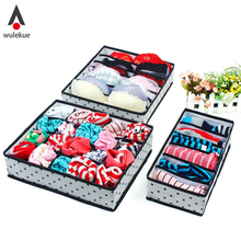 5 Color Home Storage Underwear Bra Organizers Foldable Storage Boxes For Socks Lingerie Drawer organizador Container Organiser(China)
