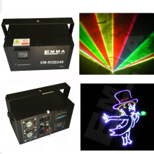 Graphics Club Xmas RGB Laser BLUE LED Stage Lighting DJ Home Party 3000mw show Professional Projector Light Disco