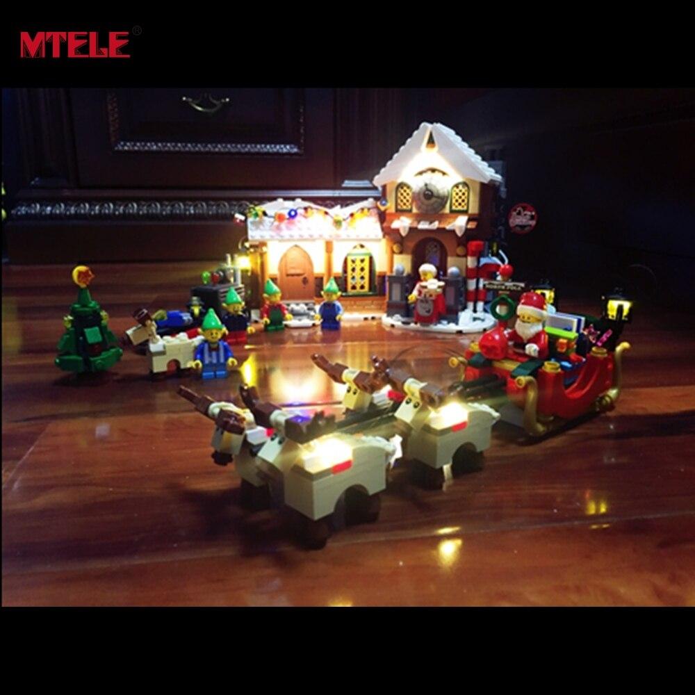 MTELE Brand LED Light Up Kit For Santas Workshops Building Blocks Model Creator Series 10245 Compatible With 33024<br>