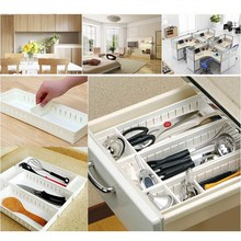 Hot Sell Adjustable Home Drawer Storage Organizer Kitchen Partition Divide Cabinet Box