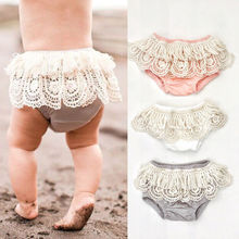 New Baby Girl Toddler Ruffle Frilly Pants Nappy Cover Bloomer Tulle Pettiskirt(China)