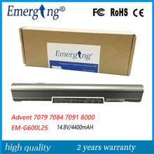 14.8V 4400MAH Original  New  High Quality Laptop Battery for Advent 7079 7084 7091 8000 EM-G600L2S