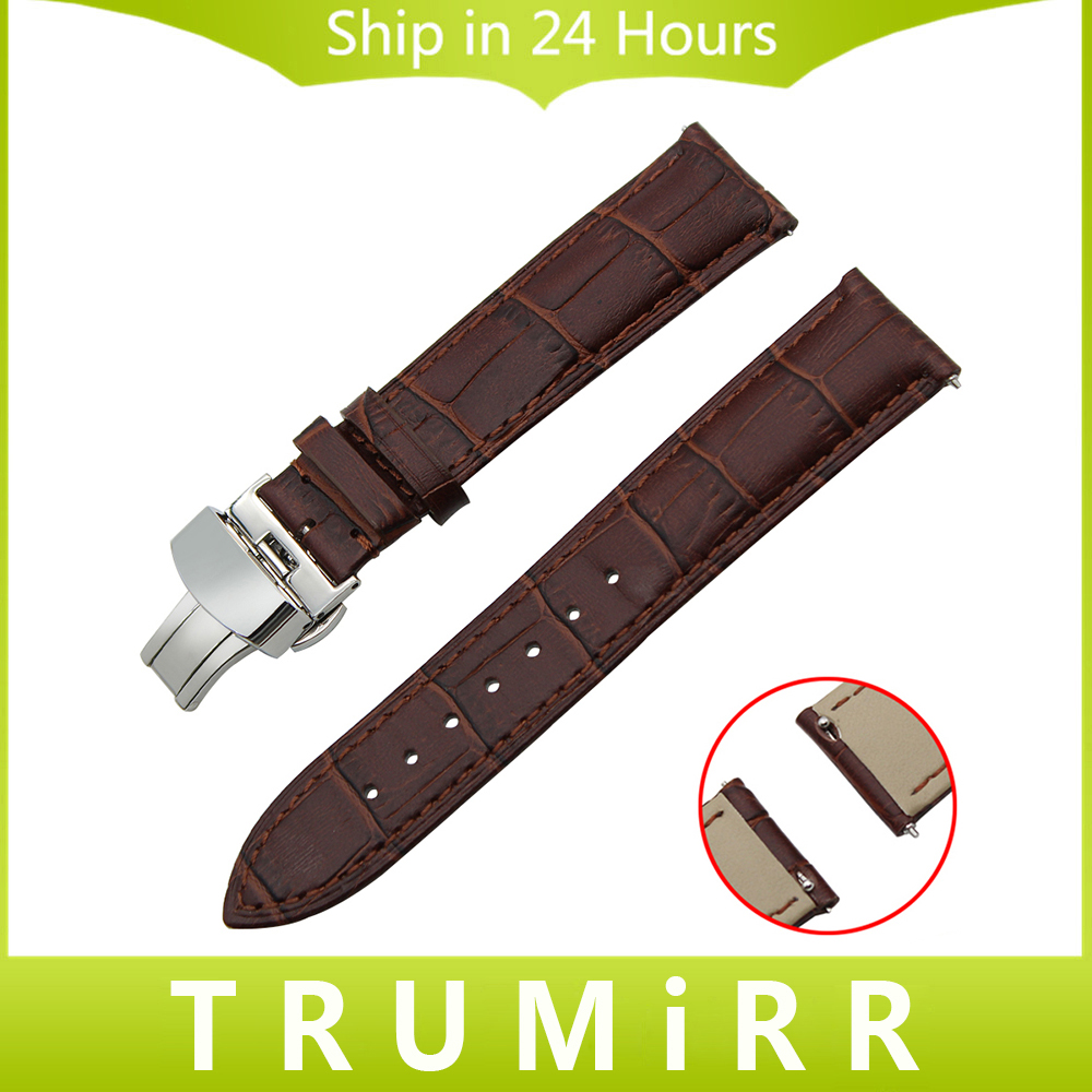 18mm 20mm 22mm Quick Release Watchband Genuine Leather Strap for Casio Men Women Watch Band Butterfly Clasp Bracelet Black Brown<br><br>Aliexpress