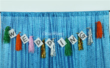 270cmx270cm Sparkly Aqua Blue Sequin Glamorous Backdrop/Fabric For Wedding Party Event Table Decorations