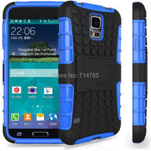 10pcs/lot,Rugged Hybrid Heavy Duty Robot TPU Hard Back Stand Armour Case Cover Dual Layer For Samsung Galaxy S5 Mini G800