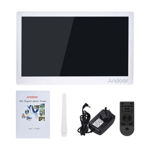 Andoer 17inch Photo Frame Full View IPS Screen 1920 * 1080 HD Advertising Machine Support Shuffle Play with Remote Control(China)