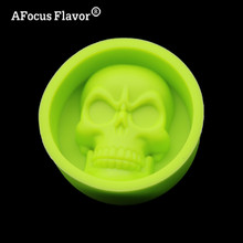 1 Pc Skull Muffin Mug Soap Mold Chocolate Pudding Cake Decorated Forming Food-grade Silicone Ice Mold Kitchen Cookie Cutters
