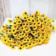 14Pcs Fake Sunflower Artificial Silk Flower Bouquet Party Floral Home Decor
