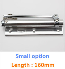 Small option Casting Aluminum Automatic Mini Door Spring Closer Length 160mm(China)