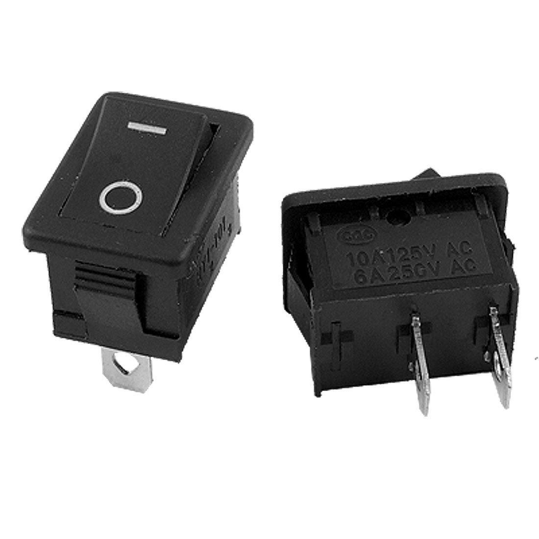 10 Pcs AC 6A/250V 10A/125V 2 Solder Lug On/Off Mini Boat Rocker Switch<br><br>Aliexpress
