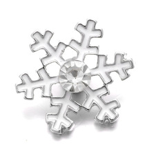 Buy 10Pcs/lot Xinnver Snap Metal Christmas Snowflake Snap Button Charms Bracelet Fit DIY 18mm Snap Jewelry Women ZA500 for $3.44 in AliExpress store