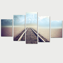 2017 Unframed Picture Canvas Railway Picture Art Prints Painting Home Decor
