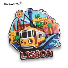 Customized OEM/ODM Promotional Gifts With Your Logo Decoration PVC Fridge Magnets Gift Items Souvenir Lisboa1000PCS/Lot (RC-PT)