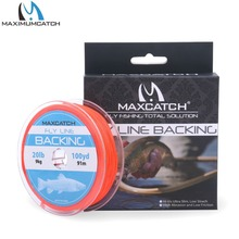 Backing Line 20/30LB 100Yards Orange Braided Fly Fishing Line with loop(China)