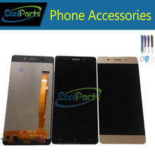 1pc/Lot High Quality For Highscreen Power ICE LCD Display+Touch Screen Digitizer Replacement With Tools Gold Black Color